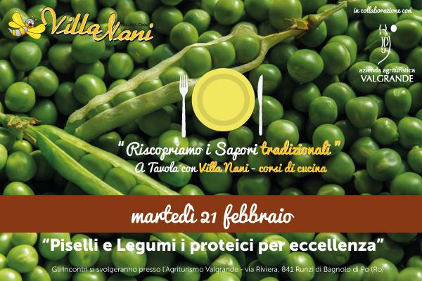 Piselli e Legumi, i proteici per eccellenza – corso di cucina 21 febbraio 2017