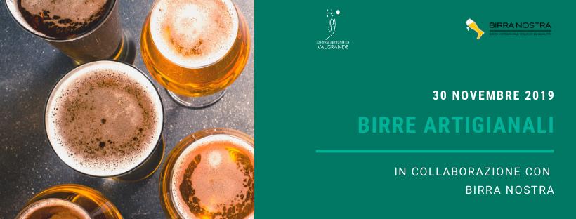 Birre artigianali al Valgrande! – 30 novembre 2019